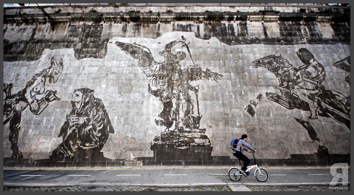 Murales sul Lungotevere il significato dell'opera di Kentridge