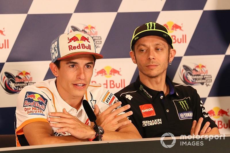 Moto: Marquez e Rossi, grandi nemici uniti dalle difficoltà