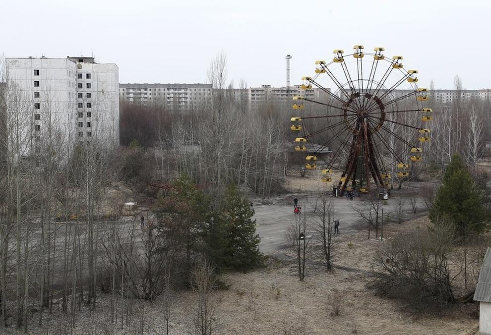 Brucia la foresta di Chernobyl