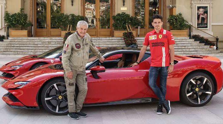 """Claude Lelouch gira """"Le grand rendez-vous"""" con la Ferrari e Charles Leclerc"""