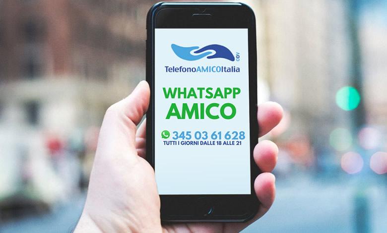 Boom di Telefono Amico di WhatsApp: picco di richieste d'aiuto nel lockdown