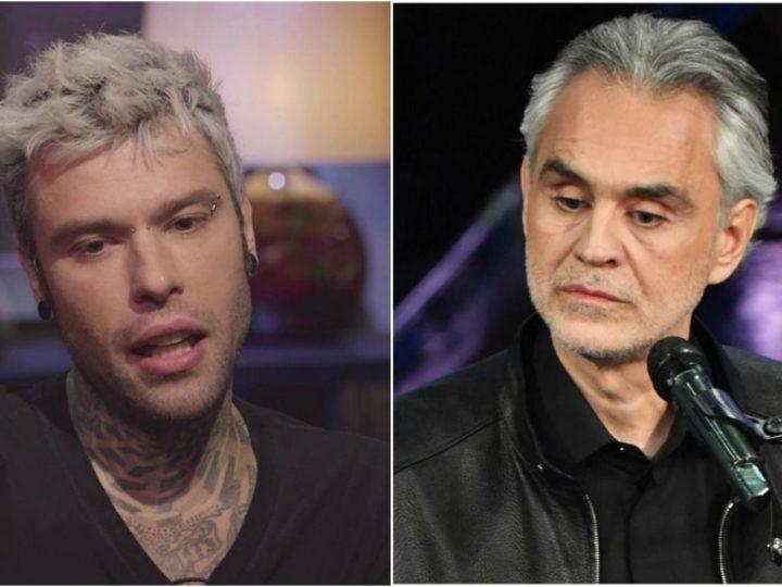 Polemica rovente tra Andrea Bocelli e Fedez, colpa del Coronavirus