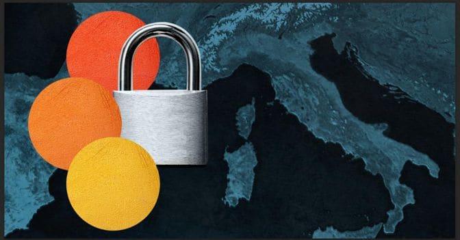 Nuovo Dpcm: l'Italia arancione, Lombardia e Sicilia rosse